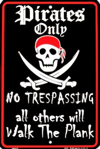 SPSP~Pirates-Only-Posters