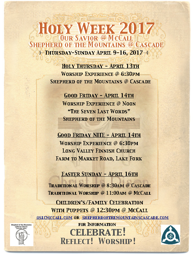 Holy Week 2017 Idaho