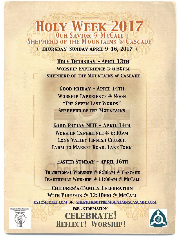Holy Week 2017 Idaho