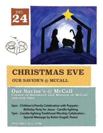 2018 McCall Christmas Flyer